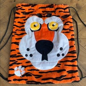 Handbags - Clemson Fuzzy Bag With Tiger Front